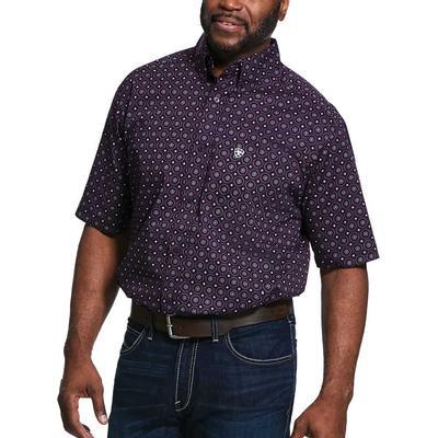 Ariat Men's Redland Print Classic Fit Shirt In Irises