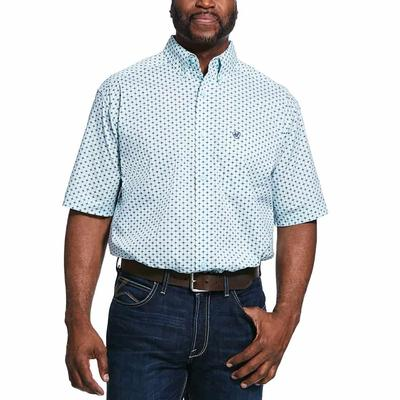 Ariat Men's Redley Stretch Classic Fit Shirt In Soothing Sea