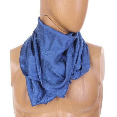 Royal Blue Silk Wild Rag