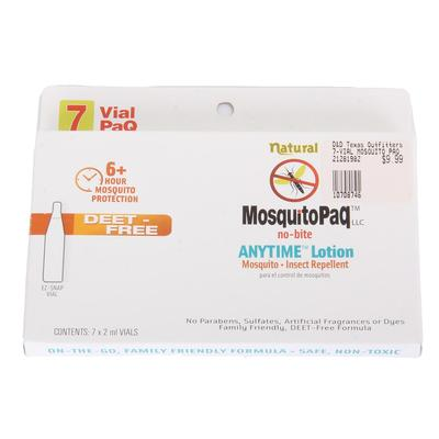 MosquitoPaq 7 Vial PaQ Anytime Lotion