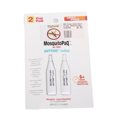MosquitoPaq 2 Vial Anytime Lotion