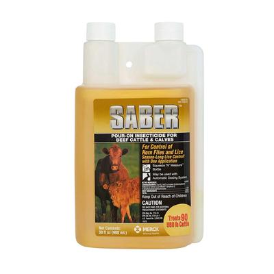 Saber Pour-On Insecticide For Cattle & Calves