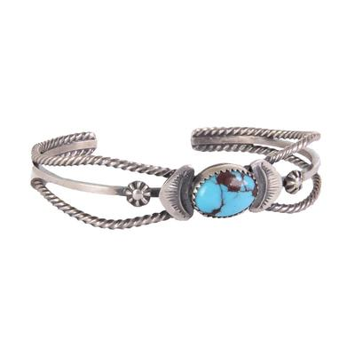 Sterling Silver Turquoise Strand Cuff