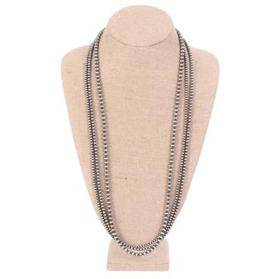30 Inch 3 Strand Navajo Pearl Necklace