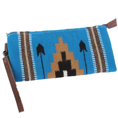 American Darling Turquoise Aztec Zipper Bag