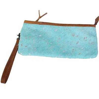 American Darling Turquoise Hair On Leather bag