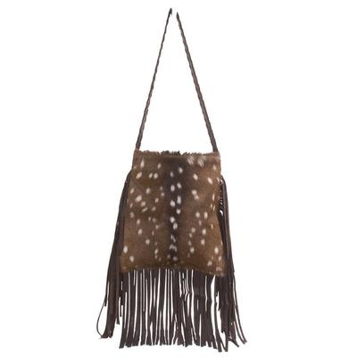 Axis Fur Fronted Leather Crossbody