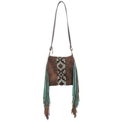 Turquoise Leather & Fringe Tote