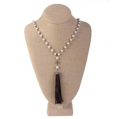 Pearl & Tassel Necklace