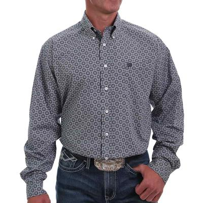 Cinch Men's Printed Circle Button Down Shirt