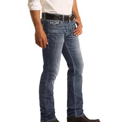 Rock & Roll Men's Slim Fit Revolver Dark Wash Jeans