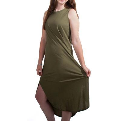 Women's Olive Tank Top Dress
