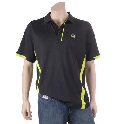 Cinch Men's Black & Lime Color Block Polo