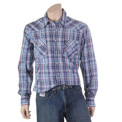 Cinch Men's Western Snap Blue Plaid Shirt
