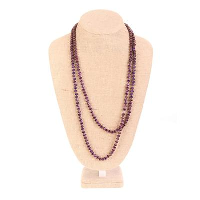 60 Inch Purple Crystal Necklace
