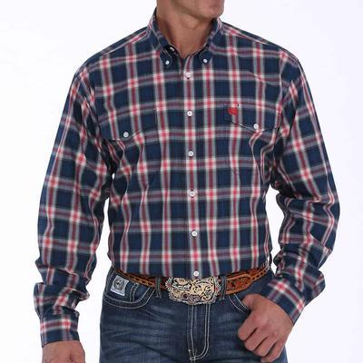 Cinch Men's Ombre Plaid Button- Down Western Shirt