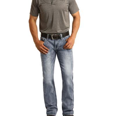 Rock & Roll Men's Revolver Straight Denim Jeans