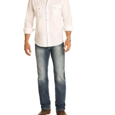 Rock & Roll Men's Slim Fit ReFlex Revolver Light Wash Straight Leg Jeans