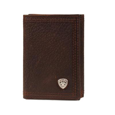 Ariat Men's Trifold Leather Wallet