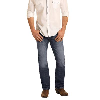 Rock & Roll Men's Denim Revolver Straight Slim Fit Jeans