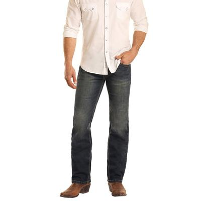 Rock & Roll Men's Denim Reflex Revolver Slim Fit Jeans
