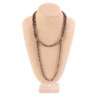 60 inch long Crystal Beaded Necklace