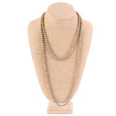 60 inch long Crystal Beaded Necklace OLV