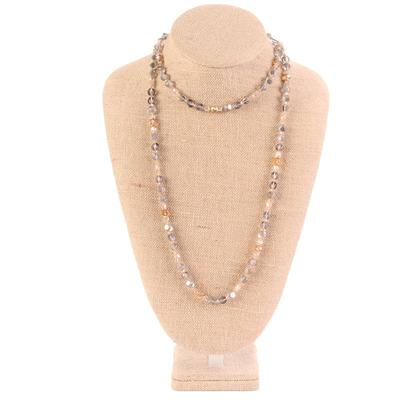 45 Inch Long Multi Bead Necklace