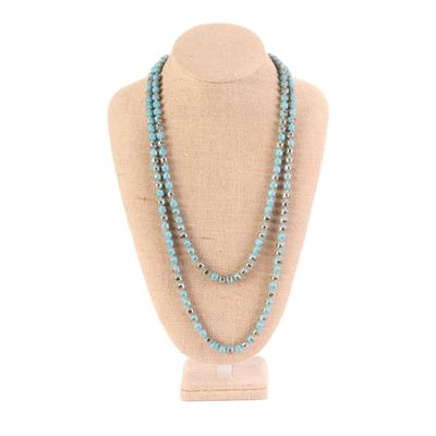60 Inch Large Bead Crystal Necklace