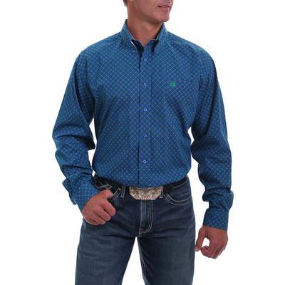 Cinch Men's Royal Blue Contrast Long Sleeve Button Down