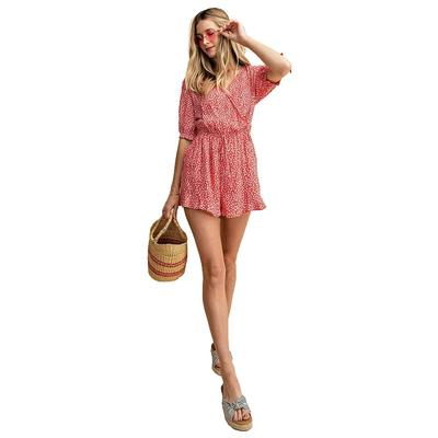 Kori America Ladies Surpliced Sleeve Tied Romper