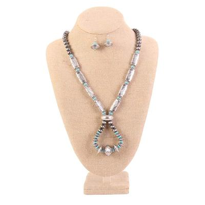 Burnished Silver Tone Western Jewelry Set