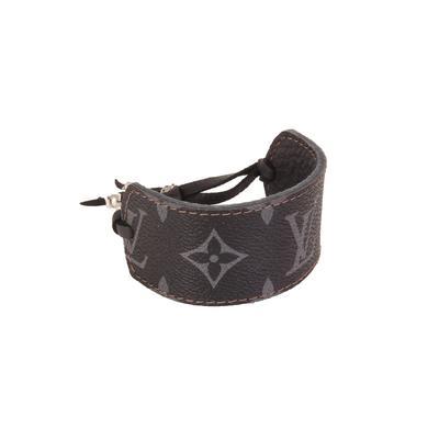 Black LV Leather Cuff