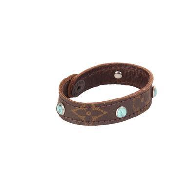 UPcycled LV Studded Turquoise Bracelet