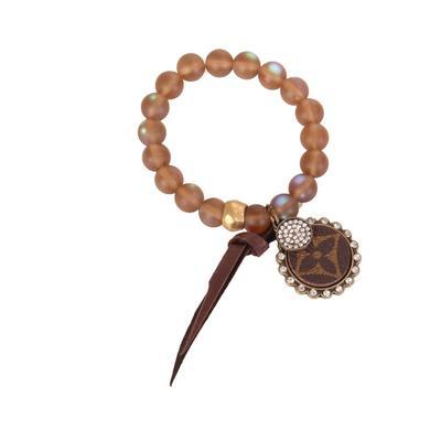 Crystal LV Charm Bracelet