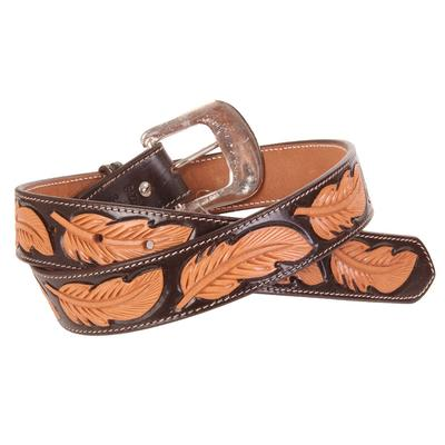 Men's Feather Tooled Belt