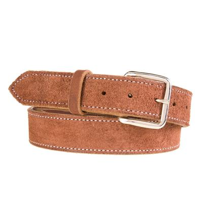 Texas Saddlery Men's Chocolate Roughout Belt