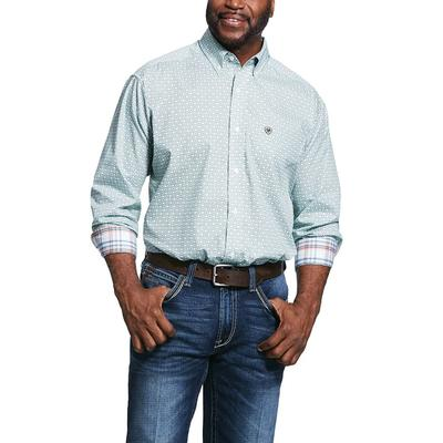 Ariat Men's Zillowbrook Blue Button Down Shirt