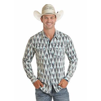 Panhandle Men's Tribal Snap Button Down Shirt