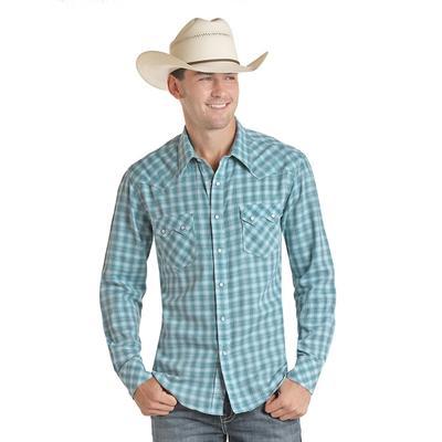 Panhandle Men's Teal Snap Shirt