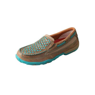 Twisted X Women's Slip-On Turquoise Moccasins