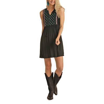 Rock&Roll Women's Babydoll Stitched Dress