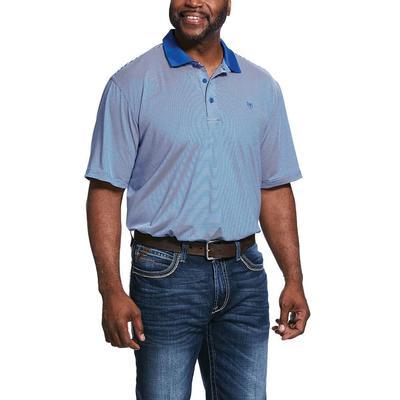 Ariat Men's Micro stripe TEK Heat Series Blue Shirt