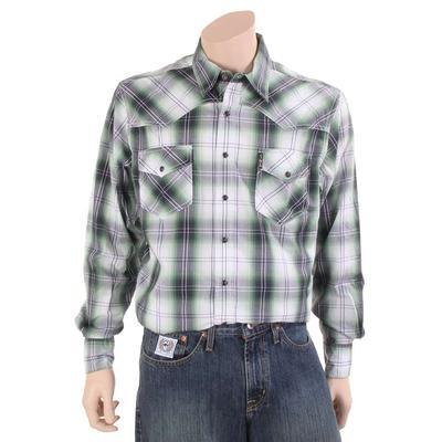 Cinch Men's Plaid Cotton Marble Snap Shirt