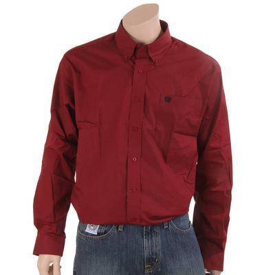 Cinch Men's Red Printed Cotton Button Down Shirt