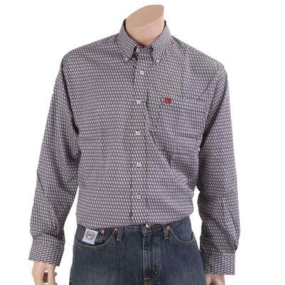 Cinch Men's Printed Cotton Geometric Button Down Shirt