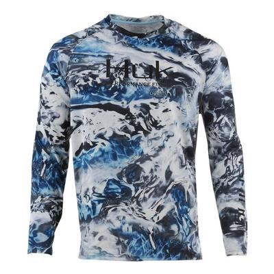 Huk Men's Pursuit Camo Vented Long Sleeve Shirt