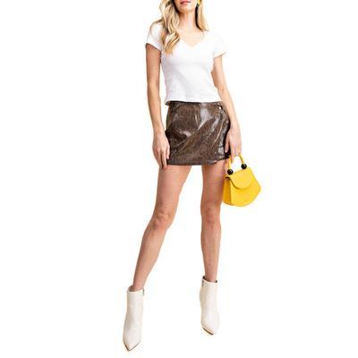 Kori Women's Dark Snake Print Skirt