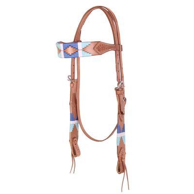 T2U Blue Polo Stitch Headstall