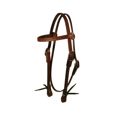 Circle Y of Yoakum 3/4 Browband Tooled Boarder Headstall